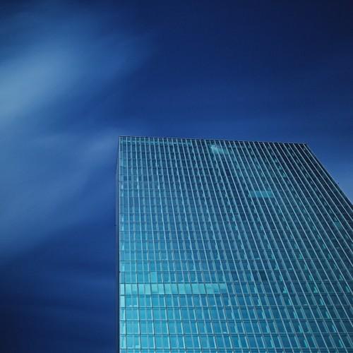 neues Gebäude der Europäischen Zentralbank in Frankfurt am Main